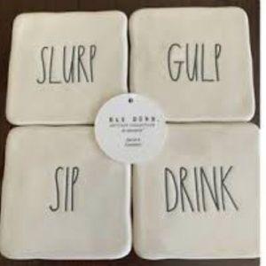 "NWT Rae Dunn ""Drink"" coasters, set of 4"